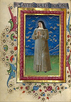 Guglielmo Giraldi (Italian, active 1445 - 1489) - Saint Catherine of Bologna - Google Art Project.jpg