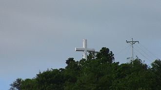 Palo, Leyte - The giant cross at the top of Guinhangdan Hill