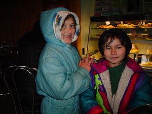 Romani people in Ukraine - Romani children in Transcarpathia