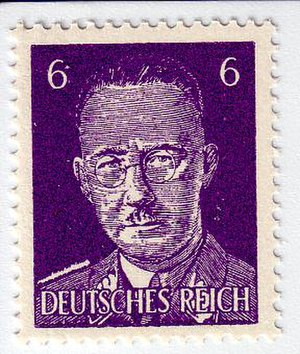Philatelic fakes and forgeries - British Propaganda stamp depicting Himmler