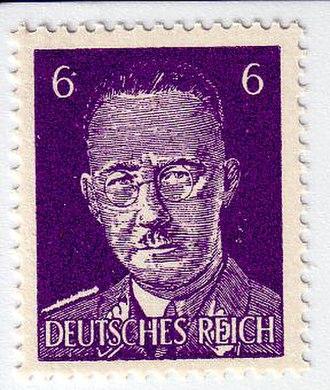 Philatelic fakes and forgeries - British Propaganda stamp depicting Himmler