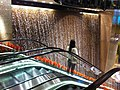 HK Central Exchange Square lobby escalators Visitors Waterfall 8-Nov-2012.JPG
