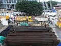 HK Central Man Yiu Street footbridge view Tree n construction site stock Dec-2012.JPG