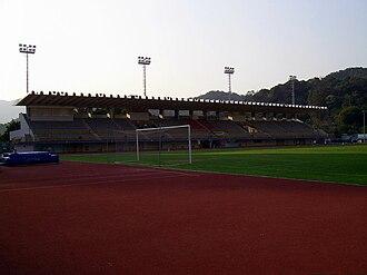 Tai Po Sports Ground - Image: HK Tai Po Sports Ground Main Stand