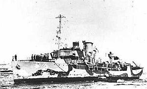 HMCS Brandon (K149) - Image: HMCS Brandon corvette