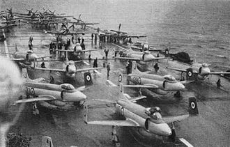 800 Naval Air Squadron - No. 800 Sqn. Attackers of HMS Eagle in 1952/53
