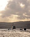 HMS Astute Arrives at Faslane for the First Time MOD 45150828.jpg