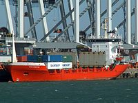 HMS Navigator IMO 8414661 loading and unloading in the Amazone harbour Port of Rotterdam 01-Apr-2006.jpg
