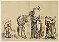 HUA-27529-Afbeelding op ware grootte van de muurschilderingen gevonden in een graf in de viering van de Pieterskerk te Utrecht voorstellende een overleden kanun.jpg