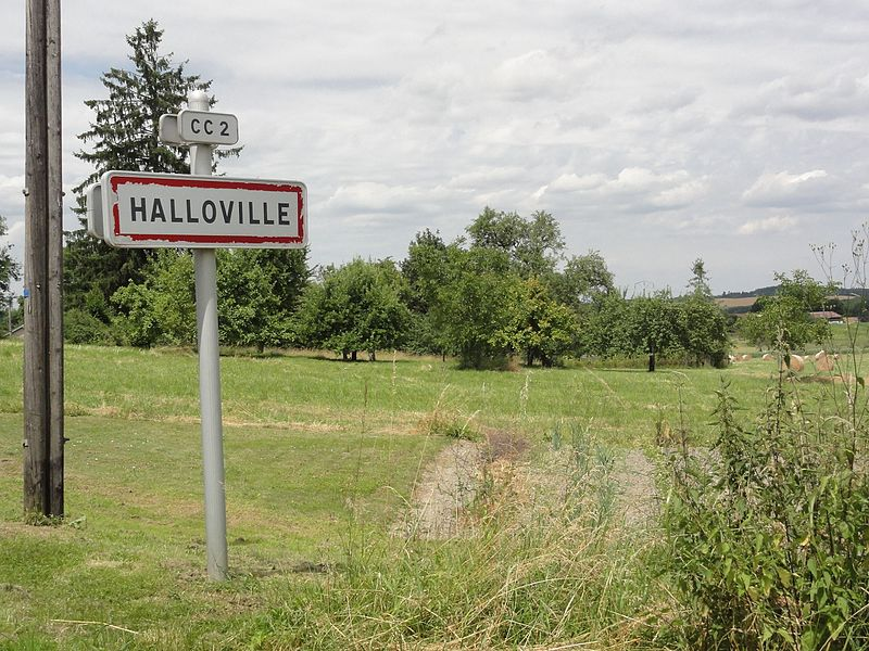 Halloville (M-et-M) city limit sign