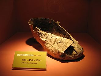 History of Austria - Leather shoe from the Hallstatt culture, 800–400 B. C.
