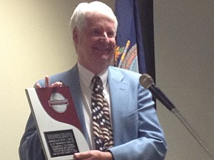 Steven Hawley - Steven Hawley, shown holding the Toastmasters District 22 Communication and Leadership award, Topeka, Kansas, October 24, 2015