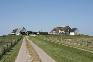 Hamburger Hallig - The main dwelling hill at Hamburger Hallig