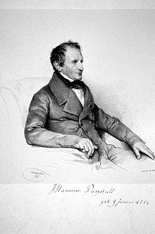 Joseph von Hammer-Purgstall, Lithographie von Joseph Kriehuber 1843 (Quelle: Wikimedia)