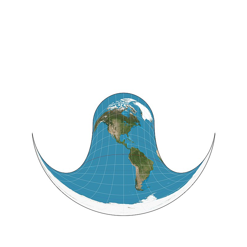 Hammer retroazimuthal projection front SW