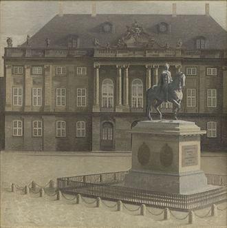 Vilhelm Hammershøi - Amalienborg Square, Copenhagen, 1896