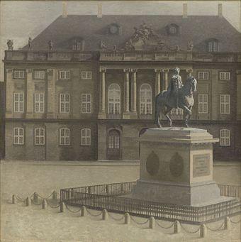 Hammershøi, Vilhelm - Amalienborg Plads - KMS1542.jpg