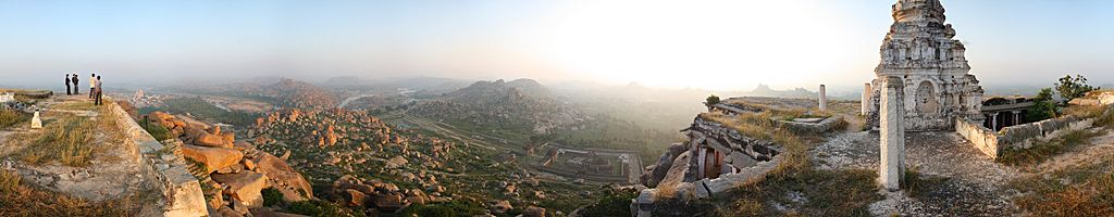 Hampi Scenery, 360° Panorama Shot from Matanga Hill