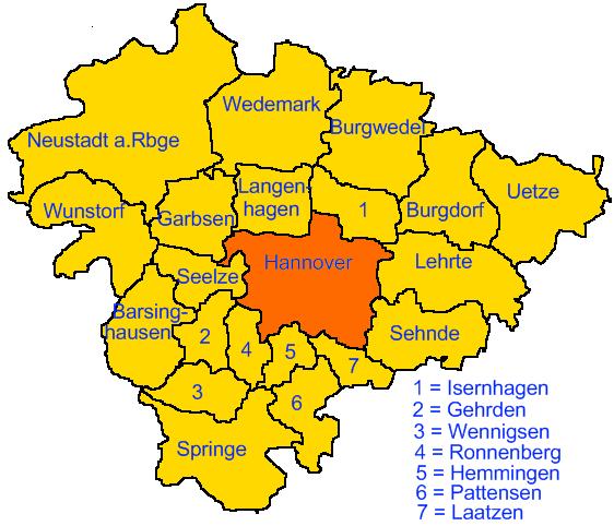 Hannover in der Region Hannover
