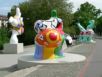 Public art - Nanas by Niki de Saint Phalle in Hanover, Germany