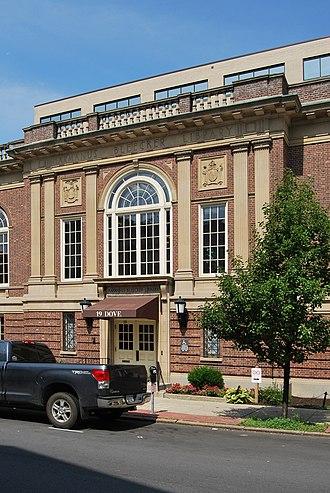 Harmanus Bleecker - Entrance to Bleecker Library.