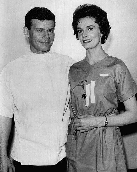 File:Harry Landers Bettye Ackerman Ben Casey 1961.JPG