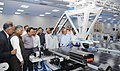 Harsh Vardhan visiting after dedicating the Automated Solar Photovoltaic Module Manufacturing Plant to the Nation, at Central Electronic Ltd., in Sahibabad.jpg