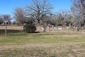 Harwood, Texas - Image: Harwood cemetery 2016 2