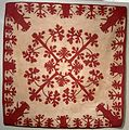 Hawaiian quilt, 'Lei Mamo', late 19th century.JPG