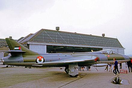 jordan air force. hunter f.73 of the royal jordanian air force in 1971 jordan