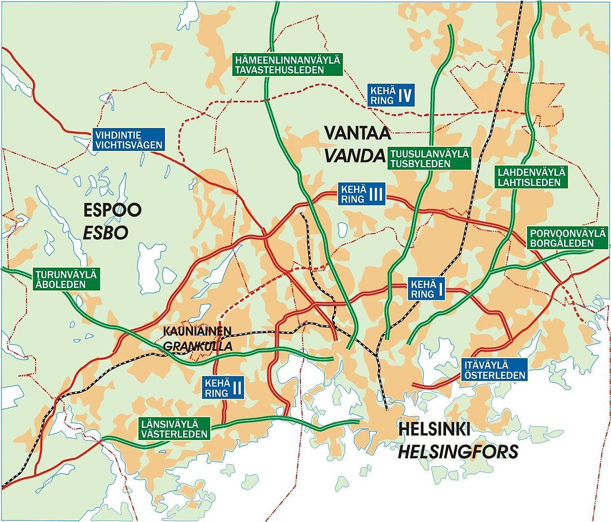 File Helsinki Region Roads2 Jpg Wikimedia Commons