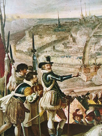 History of Amiens - Henry IV at the Siege of Amiens (Anonymous, Museum of Versailles)