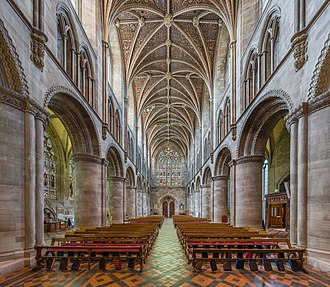 Hereford Cathedral - The nave looking west