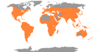 Global distribution of Ardeidae.