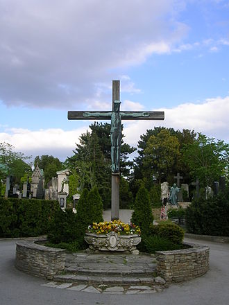 Hietzing Cemetery - Cross at the Hietzing Cemetery