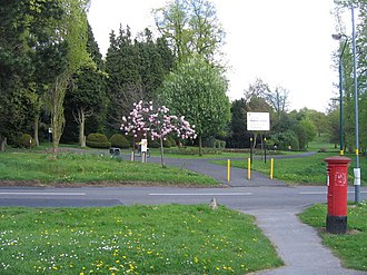 Highbury Park, Birmingham - Image: Highbury Park, Moor Green Lane Entrance and Pillar Box geograph.org.uk 1270846