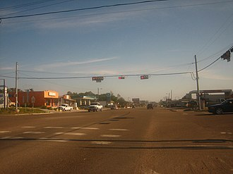 Zapata, Texas - U.S. Highway 83 in Zapata, just south of the intersection with Texas State Highway 16