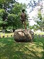 Hiker at Pine Grove Cemetery in Lynn MA.JPG
