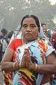 Hindu Devotee Prays To Ganga - Makar Sankranti Observance - Kolkata 2018-01-14 6543.JPG