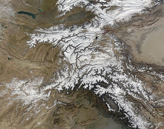 Panj River - The Panj River from space