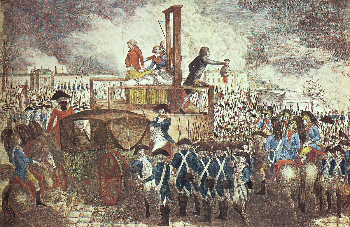 L'exécution de Louis XVI d'après une gravure allemande.