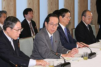 Hiroshi Okuda - with Yasuo Fukuda (at the Prime Minister's Official Residence on May 26, 2008)