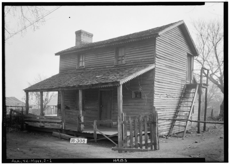 File:Historic American Buildings Survey W. N. Manning, Photographer, March 31st, 1934. FRONT VIEW - WEST ELEVATION. - High Street (Old Tavern), Mooresville, Limestone County, AL HABS ALA,42-MOVI,2-1.tif