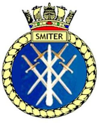 HMS Smiter (P272) - Image: Hmssmiterurnu