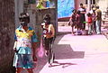 Holi time, playing with coloured water 2013.jpg