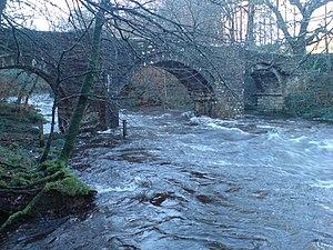 Holne Bridge - Holne Bridge, at high water