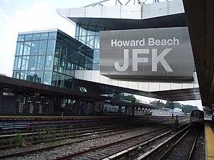 Howard Beach–JFK Airport (IND Rockaway Line) - Image: Howard Beach JFK
