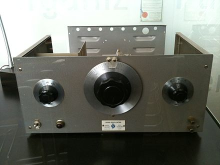 The HP200A, a precision audio oscillator, was the company's very first financially successful product. Hp200a-front-panel.JPG