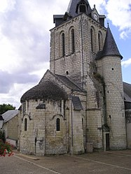 The church of Saint-Maurice, in Huismes