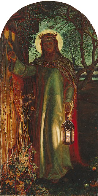 Sinner's prayer - William Holman Hunt's The Light of the World is an allegory of Jesus knocking on the door of the sinner's heart.